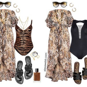 Plus Size Sexy Swimwear - Plus Size Animal Print Swimsuit and Cover-Up - Plus Size Fashion for Women - alexawebb.com #plussize #alexawebb