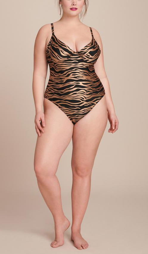 Plus Size Sexy Swimwear - Plus Size Animal Print Swimsuit and Cover-Up - Plus Size Fashion for Women - alexawebb.com #plussize #alexawebb
