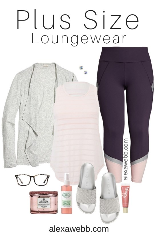 Plus Size Loungewear - Plus Size Activewear, Leggings, Cardigan, Slides - Plus Size Fashion for Women - alexawebb.com #plussize #alexawebb