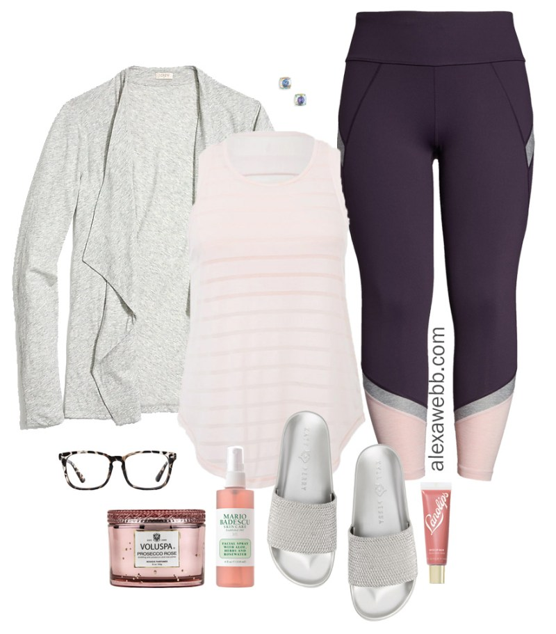 Plus Size Spring Loungewear - Plus Size Activewear, Leggings, Cardigan, Slides - Plus Size Fashion for Women - alexawebb.com #plussize #alexawebb