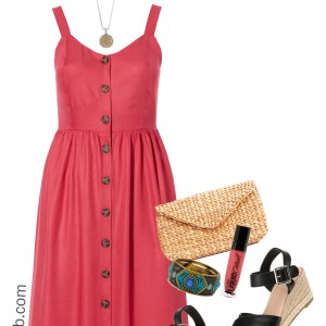 Plus Size Summer Dress Outfit Idea - Plus Size Fashion for Women - alexawebb.com #Plussize #alexawebb