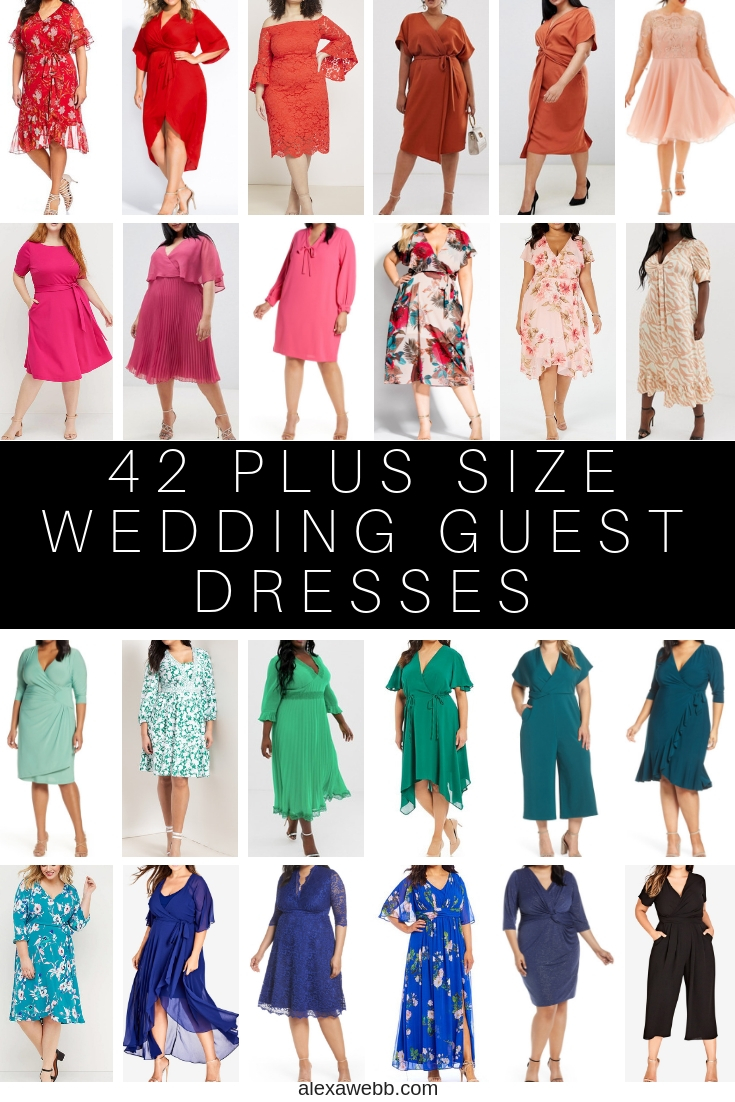 outlet for sale pretty nice online here 42 Plus Size Wedding Guest Dresses {with Sleeves} - Alexa Webb