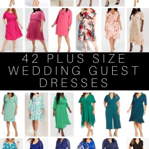42 Plus Size Wedding Guest Dresses {with Sleeves} - Plus Size Summer Wedding Guest Dresses - alexawebb.com #plussize #alexawebb