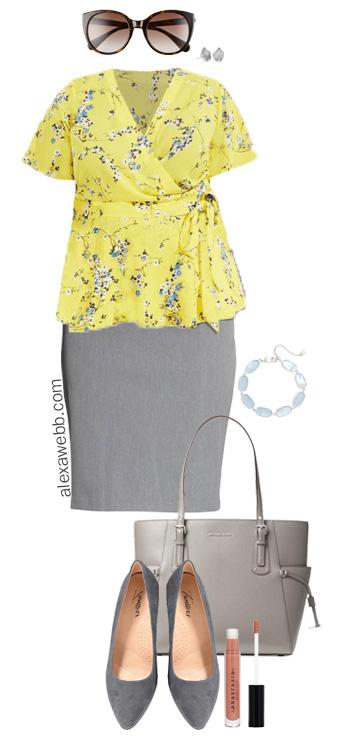 Plus Size Wrap Top Outfits - Plus Size Summer Work Outfit - alexawebb.com #plussize #alexawebb
