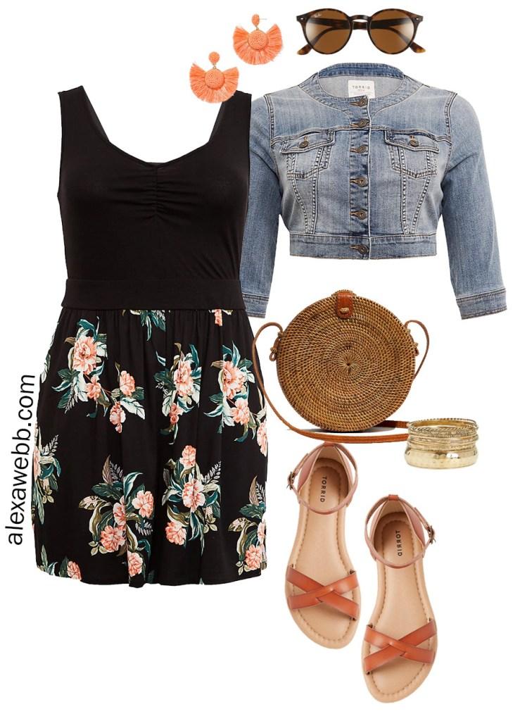 Plus Size Romper Casual Summer Outfit Idea - Plus Size Weekend Wedding Packing List - alexawebb.com #plussize #alexawebb