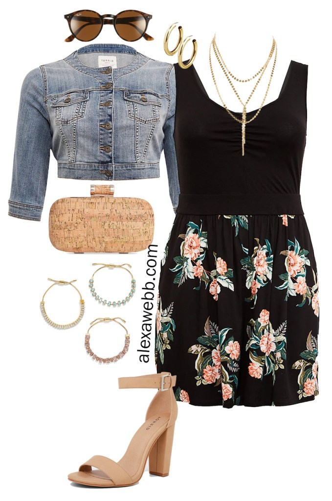 Plus Size Weekend Wedding Packing List - The Romper - Dressed Up Romper for Going Out - Plus Size Fashion for Women - alexawebb.com #plussize #alexawebb