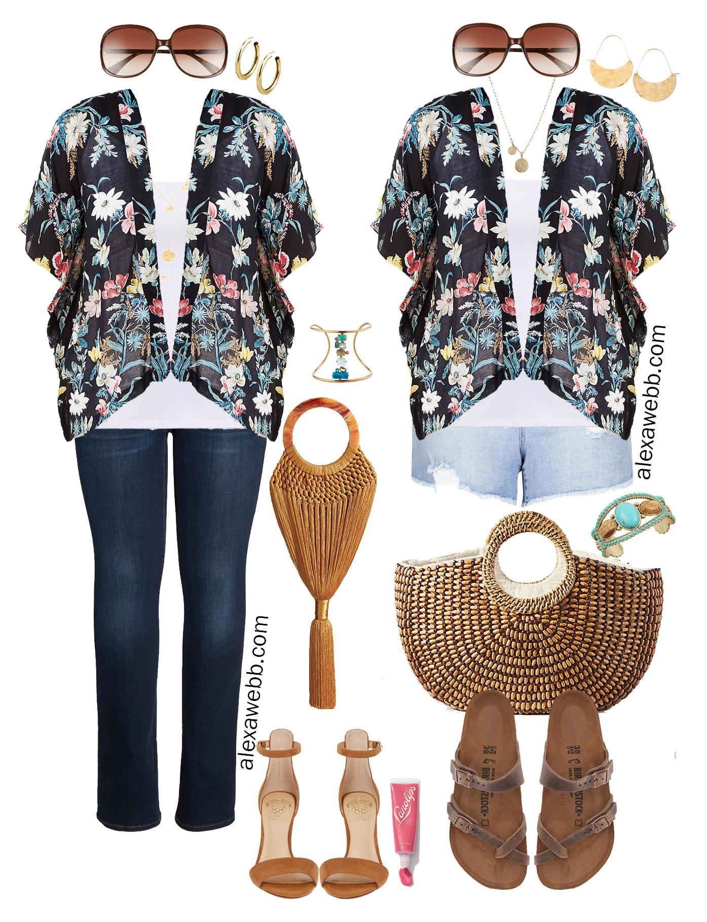 Plus Size Kimono Outfit Ideas {2 Ways} Alexa Webb