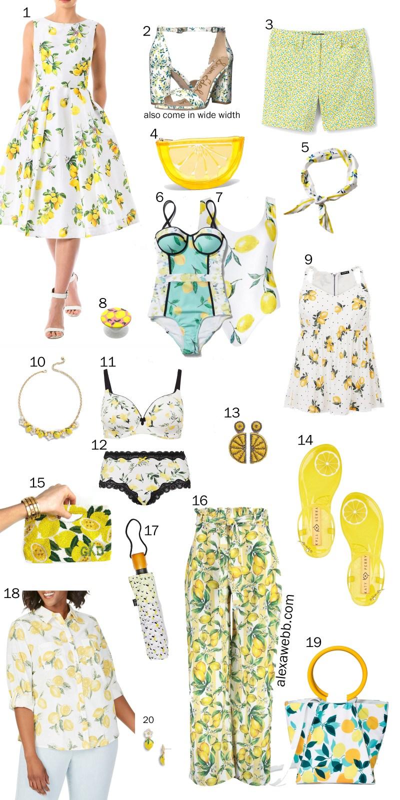 Plus Size Lemons - Plus Size Summer Fruit-Print Clothes - Plus Size Fashion for Women - alexawebb.com #plussize #alexawebb
