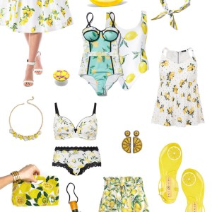 Plus Size Lemons - Plus Size Summer Fruit-Print Clothes - Plus Size Fashion for Women - alexawebb.com #plussize #alexawebb