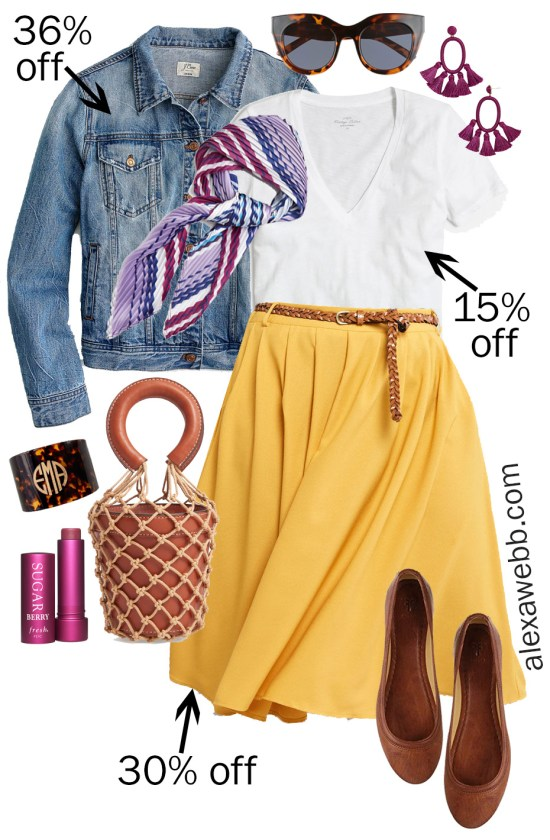 Plus Size Spring Sales -Midi Skirt Outfits - alexawebb.com #plussize #alexawebb