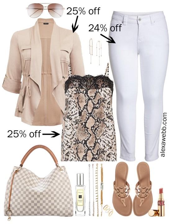 Plus Size Spring Sales - Snake Print Top Outfits - Plus Size Fashion for Women - alexawebb.com #plussize #alexawebb
