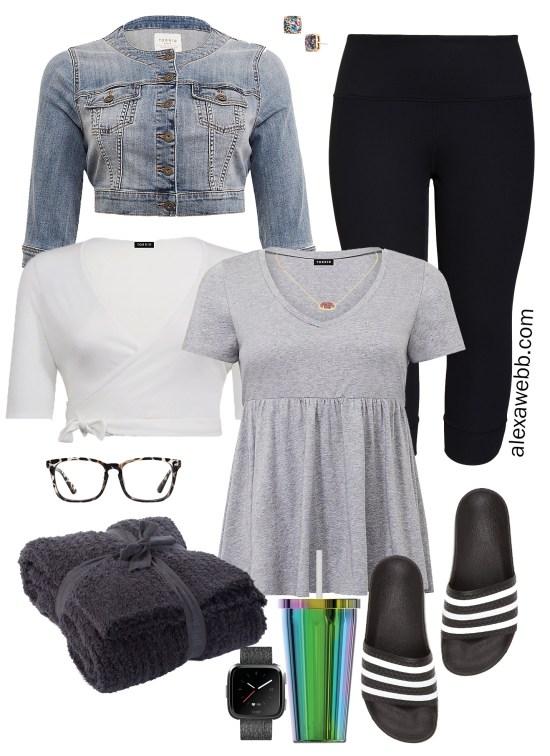 Plus Size Summer Lounge Wear for Home and Errands - Plus Size Leggings Outfit Idea - alexawebb.com #plussize #alexawebb
