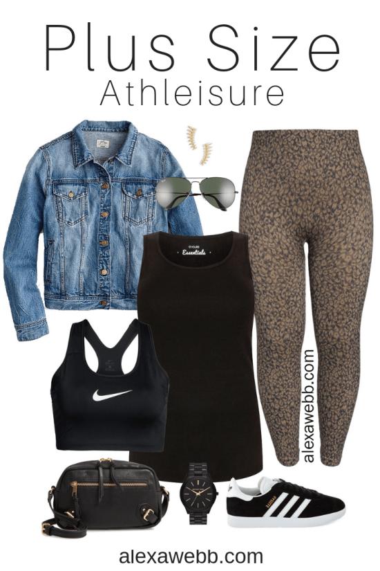 Plus Size Athleisure Outfit Idea - Plus Size Activewear - alexawebb.com #plussize #alexawebb