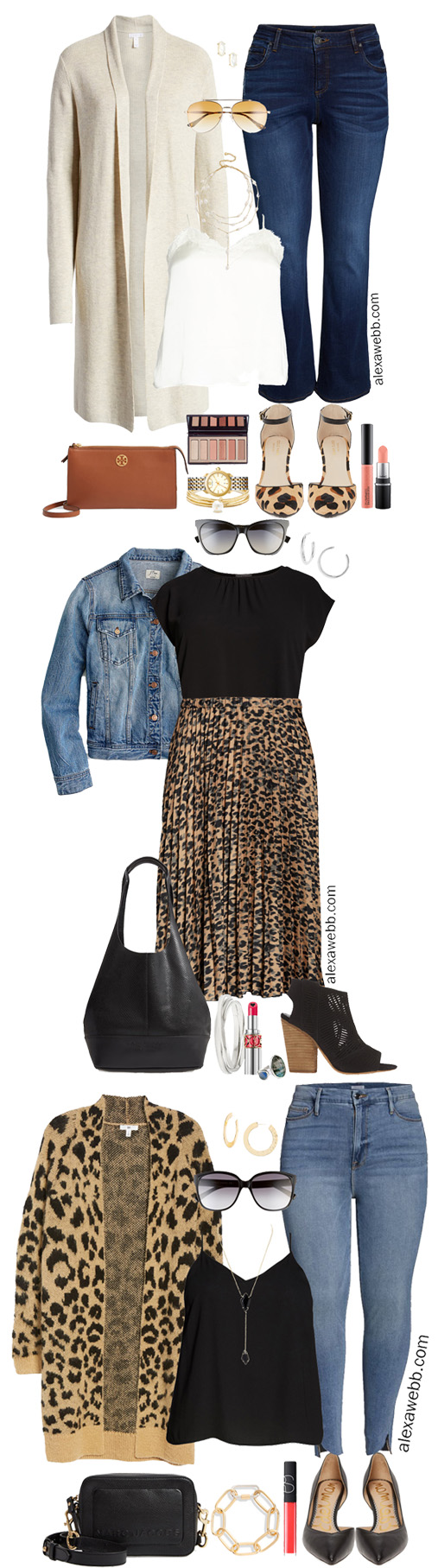 Nordstrom Anniversary Sale 2019 – Plus Size Outfits - Plus Size Leopard Cardigan, Good American Skinny Jeans, Camisole, Pumps, Crossbody Bag - Plus Size Fashion for Women - alexawebb.com #plussize #alexawebb