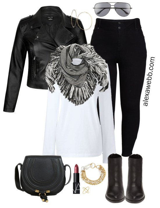 Plus Size Fall Monochromatic Basics Capsule Wardrobe - Plus Size Fashion for Women - alexawebb.com #plussize #alexawebb