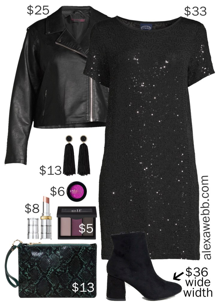 Plus Size on a Budget – LBD Night Out Outfit - alexawebb.com #plussize #alexawebb