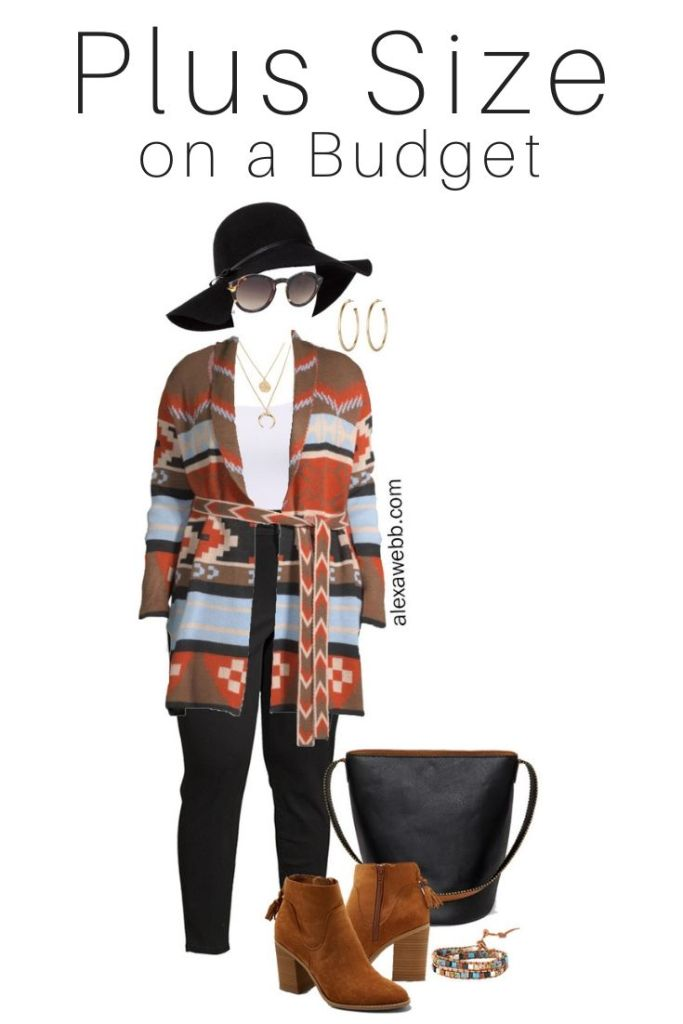 Plus Size on A Budget Aztec Cardigan - Fall Outfit Idea - Alexa Webb #plussize #alexawebb