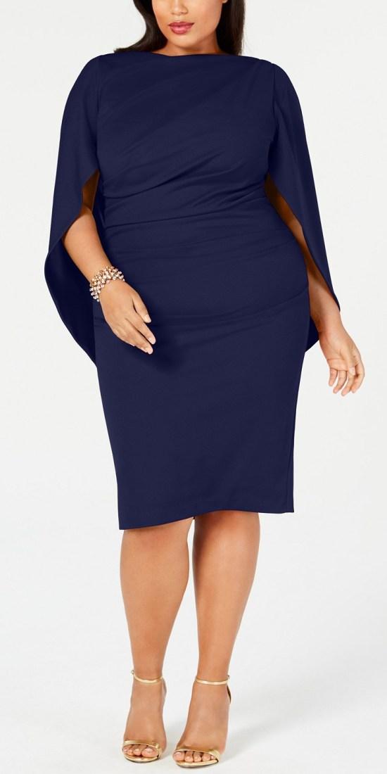 66 Plus Size Holiday Party Dresses with Sleeves - Alexa Webb #plussize #alexawebb