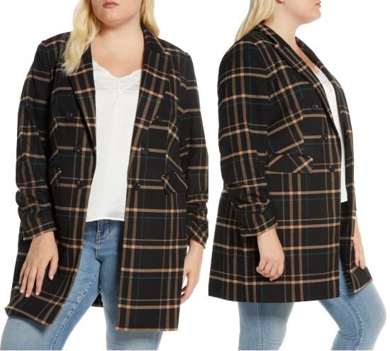 Plus Size Plaid Blazer - trendy fall look - #alexawebb #plussize