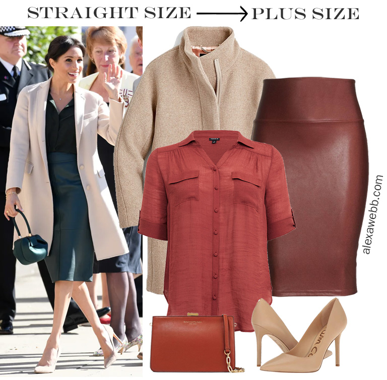 Straight Size to Plus Size - Meghan Markle Inspired Outfit Idea - Alexa Webb #plussize #alexawebb