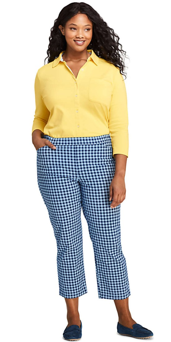 10 Plus Size Preppy Brands to Know - Lands' End - Alexa Webb - Plus SIze Fashion for Women - #alexawebb #plussize