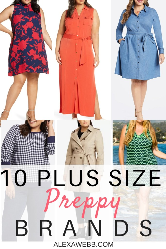 10 Plus Size Preppy Clothing Brands to Know - Alexa Webb - Plus SIze Fashion for Women - #alexawebb #plussize
