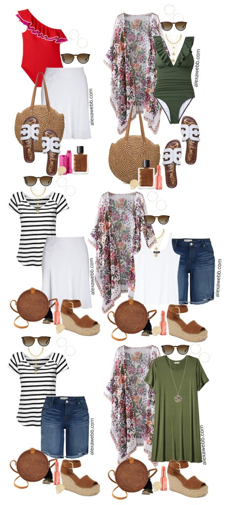 Plus Size Beach Vacation Outfits - Plus Size Summer Fashion - Alexa Webb #plussize #alexawebb