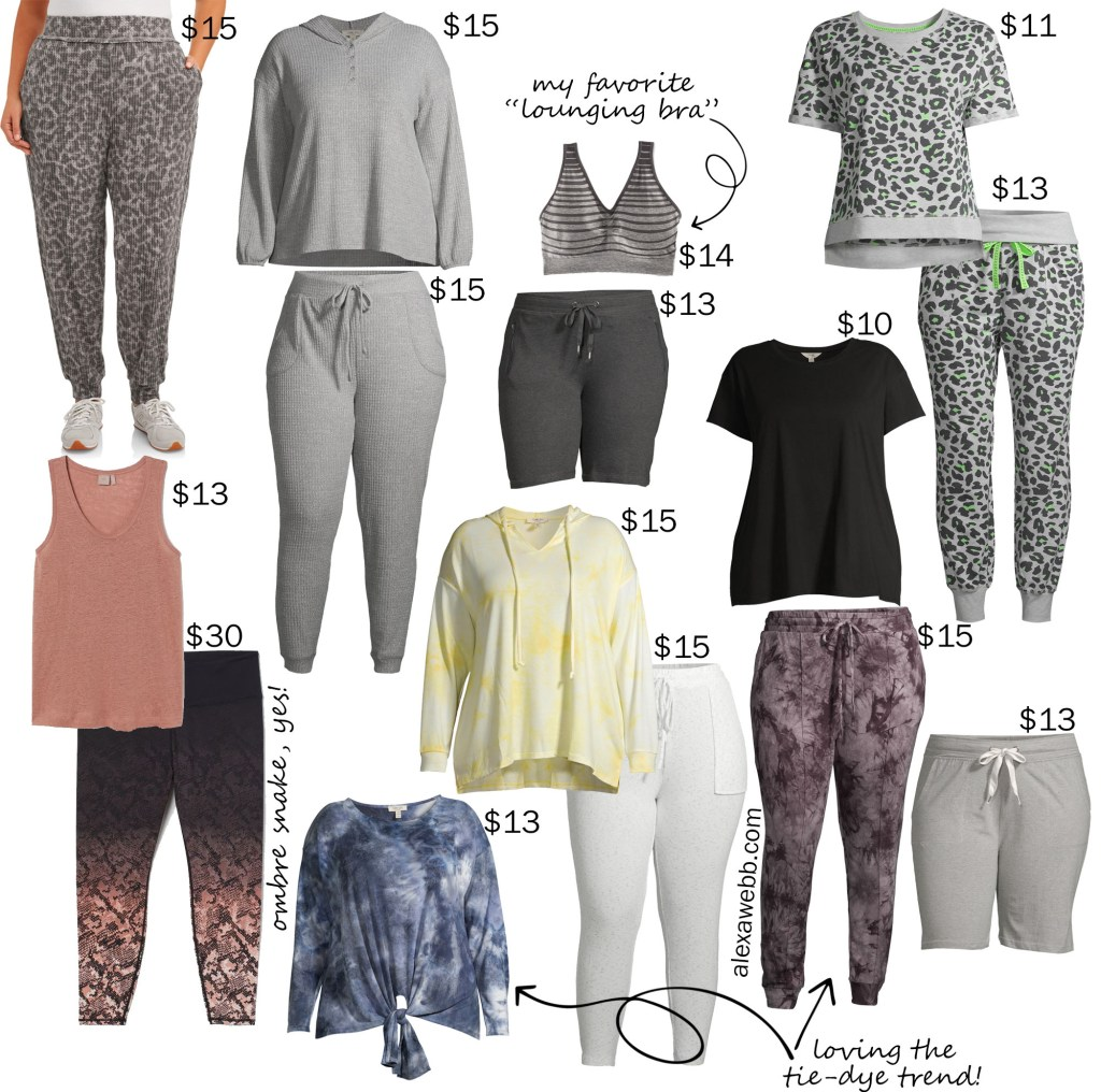 Plus Size on a Budget Lounging Loungewear for Staying at Home - Alexa Webb #plussize #alexawebb