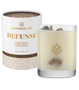 Aluminate Life Defense Candle with Smoky Quartz