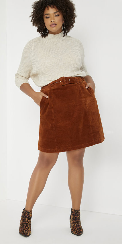 Plus Size Skirts for Inverted Triangle Shapes - Alexa Webb #plussize #alexawebb