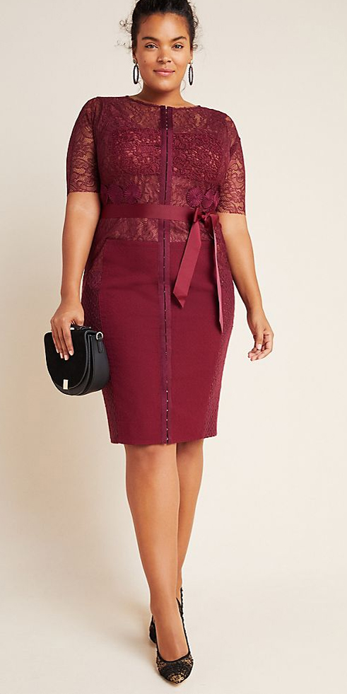 27 Plus Size Party Dresses {with Sleeves} for Holiday Parties or Wedding Guest Dresses - Alexa Webb #plussize #alexawebb