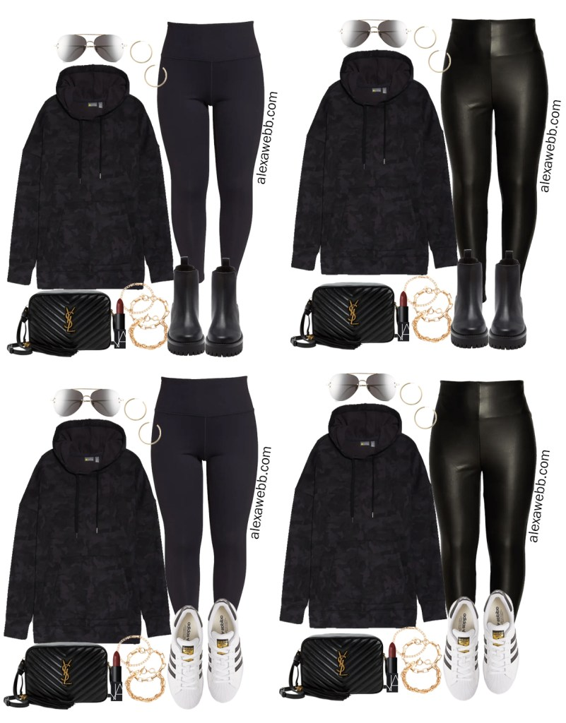 Plus Size Athleisure Outfits with a Plus Size Camo Hoodie and Leggings from my Fall Athleisure Capsule Collection - Alexa Webb