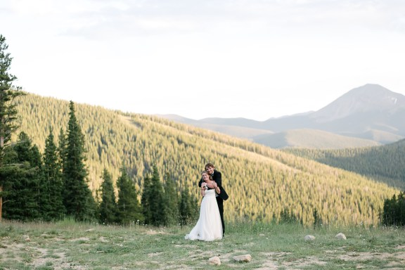Alex Good | Intimate Weddings and Adventurous Elopement Photography | Keystone Colorado Mountain Elopement | Milwaukee Photographer | BHLDN Dress