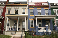 """DC row houses - the first CC image hit for """"dc house flips"""" on Flickr. Photo from Elvert Barnes."""