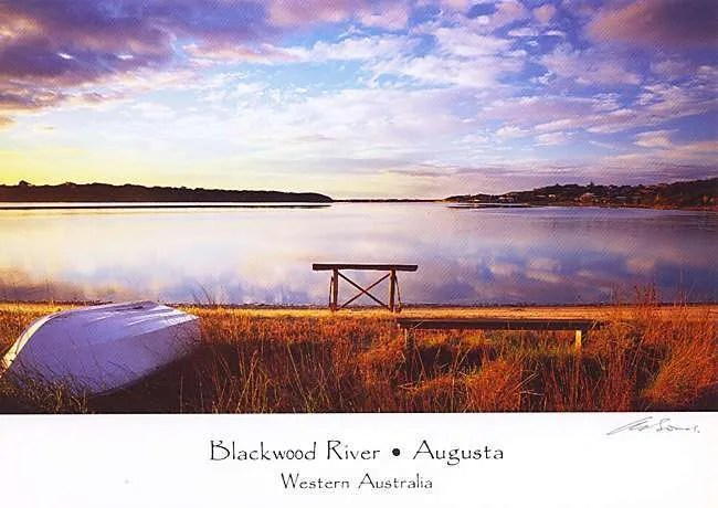 Augusta Blackwood River postcard