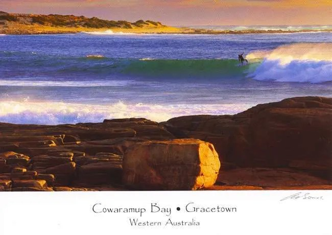 Gracetown surfing postcard