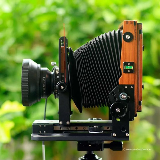 lens fall Chamonix F2 4x5 camera