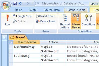microsoft access 2007 macros