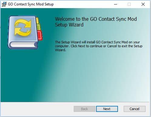 google go contact sync mod