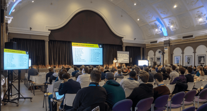 Photo of Track A at WordCamp London 2019