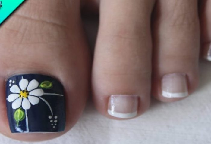 Diseño De Uñas Para Pies Flor Como Hacer Flores Flowers Nail Art