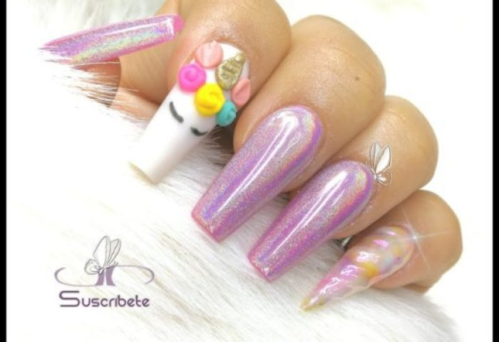 Uñas Decoradas De Unicornio 2019