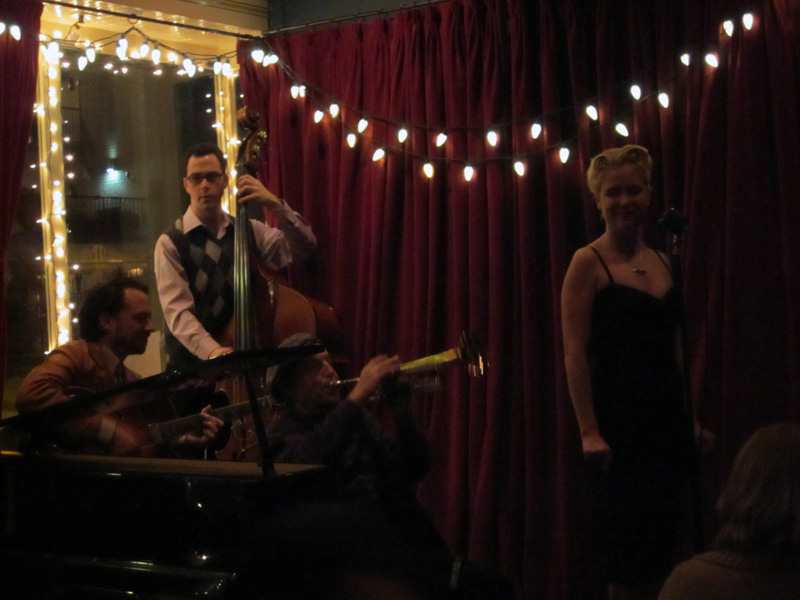 Linnzi Zaorski at a Jazz/Swing Club