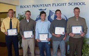 2011 Inaugural Alex Gilmer Memorial Flight School Scholarship Recipients