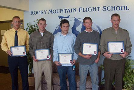 2012 Rocky Mountain Flight School Ceremony - Alex Gilmer Flight School Scholarship Recipients