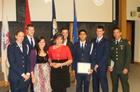 2012 Tri-Military Ceremony CU Boulder - Alex Gilmer Flight School Scholarship Recipients