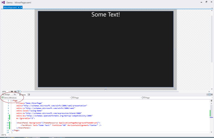 Windows XAML View