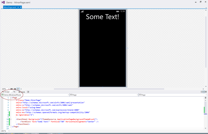 Windows Phone XAML View