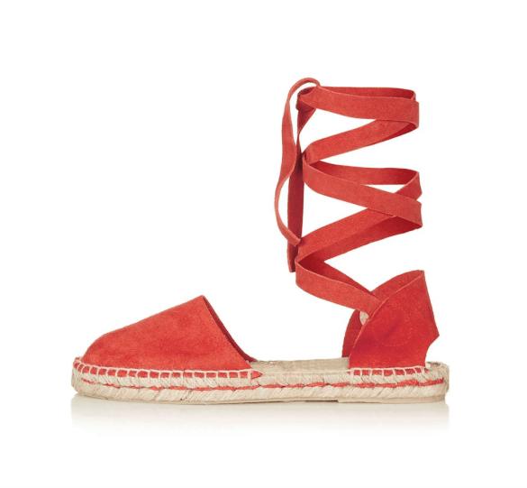 Topshop flat espadrille sandals