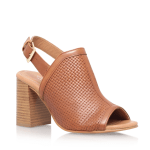Carvela tan mule block heel slingback sandals